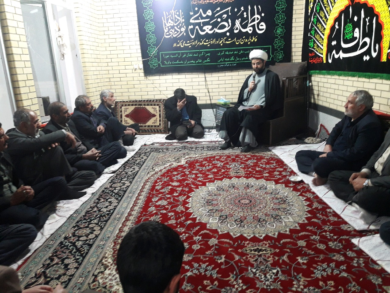 السلامعلیکِ یا فاطمه الزهرا(سلام اللهعلیها) سخنرانی امام جمعه محترم قهدریجان در جمع عزاداران فاطمی