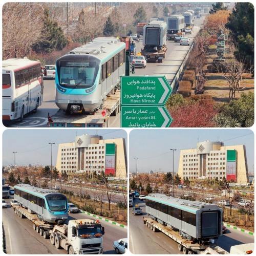ورود 5 واگن جدید از ناوگان خط 2 قطارشهری به مشهد
