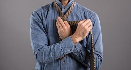 نحوه ی گره زدن کروات,آموزش تصویری گره زدن کراوات