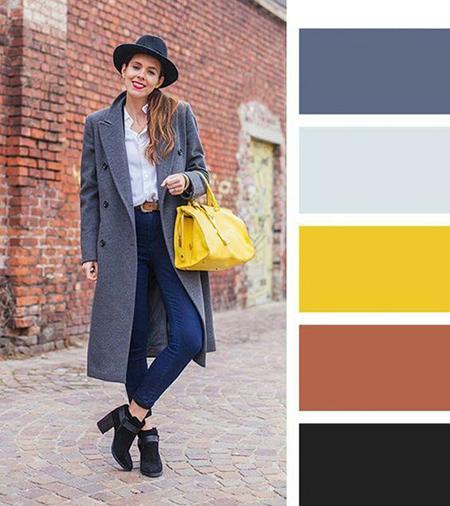 ترکیب های رنگی لباس برای خانم ها در پاییز, جذاب ترین ترکیب های رنگی لباس برای خانم ها در پاییز