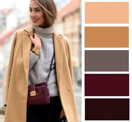 رنگ های مناسب لباس های پاییزی,ترکیب های رنگی لباس برای خانم ها در پاییز