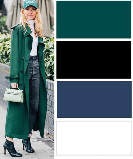 لباس های رنگی مناسب خانم ها,ترکیب رنگ های لباس های پاییزی خانم ها