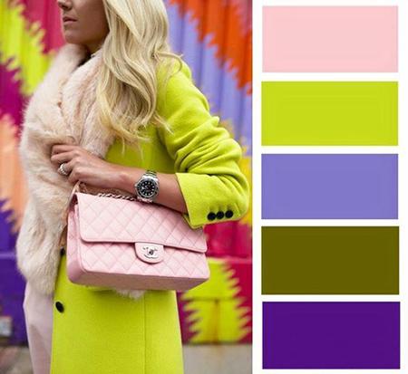 انواع لباس های رنگی برای خانم ها, ترکیب های لباس برای خانم ها