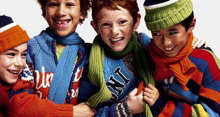 رنگ های مناسب لباس کودکان,لباس های کودکان