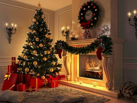 چیدمان خانه در کریسمس,ایده هایی برای دکوراسیون خانه در کریسمس