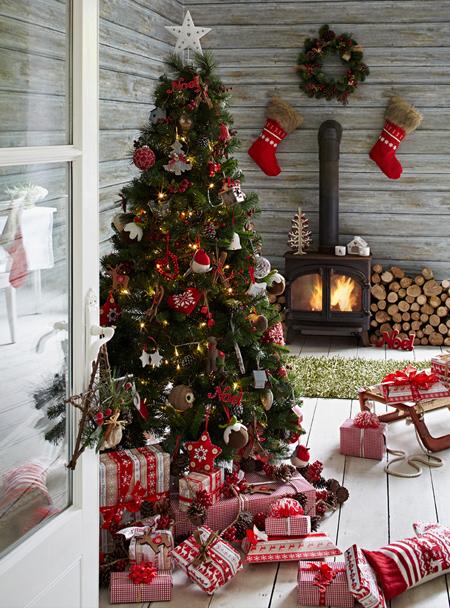 تزیین خانه برای کریسمس,نحوه چیدمان خانه در کریسمس