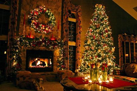 ایده هایی برای دکوراسیون خانه برای کریسمس,چیدمان خانه در کریسمس
