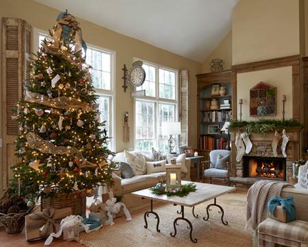 تزیین درخت کریسمس,چیدمان زیبای خانه در کریسمس