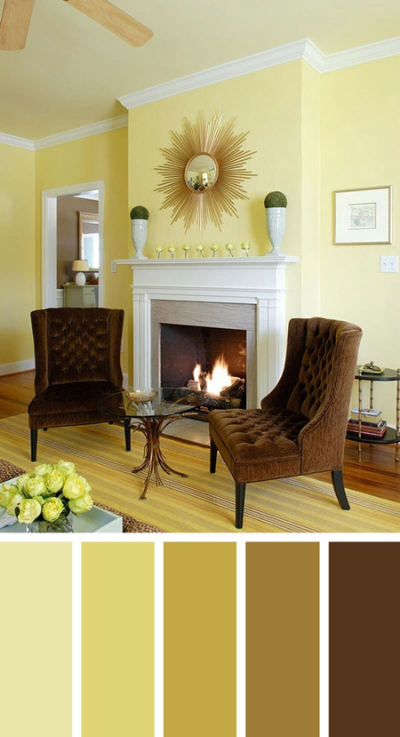 اصول دکوراسیون و چیدمان خانه,ترکیب رنگ آرامش بخش