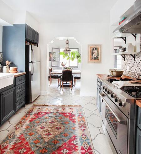 کفپوش وینیل در آشپزخانه, کفپوش مشمع در آشپزخانه