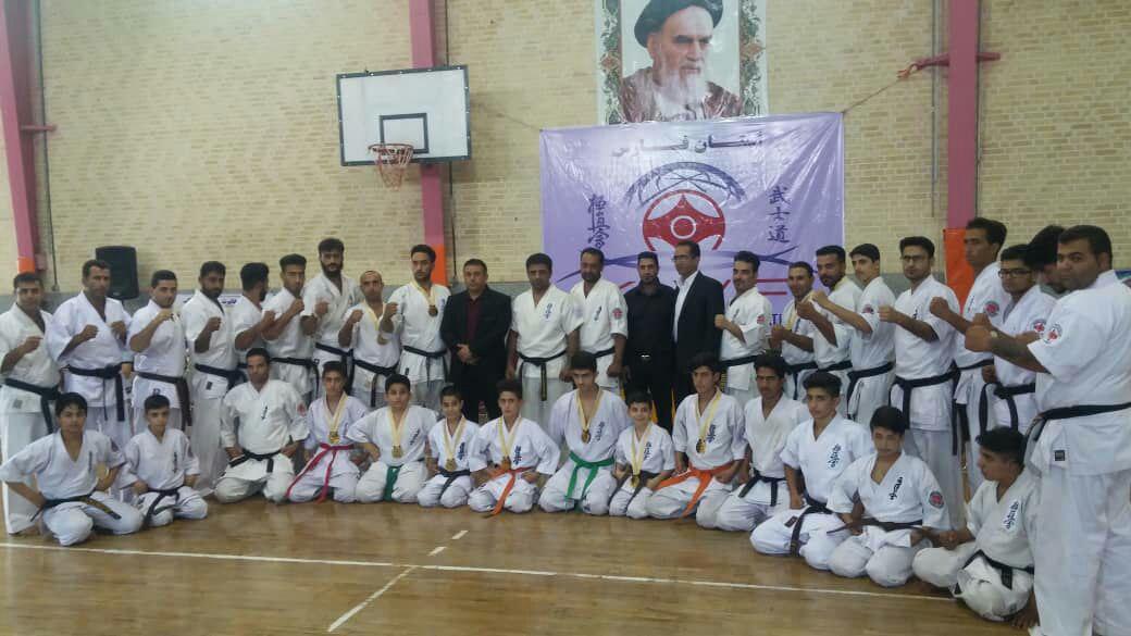 برگزاری مسابقات استانی کیوکوشین کاراته kwf  استان فارس در شهرستان لامرد