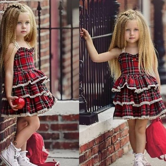 مدل لباس عید دختر بچه ها سال 98
