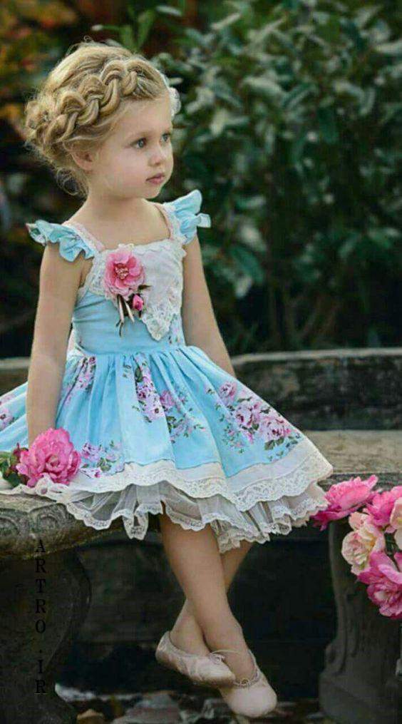 مدل لباس دختر بچه عید ۹۸