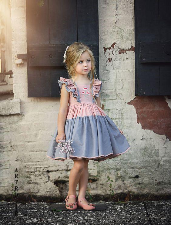 مدل لباس دختر بچه بهاره