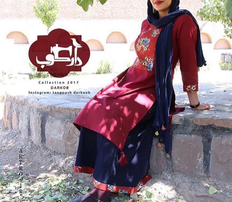 مدل مانتو سنتی ایرانی بلند