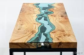 طراحی بسیار زیبا میز رودخانه ای