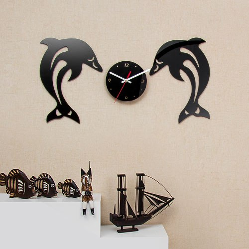 خرید ساعت دیواری طرح دلفین