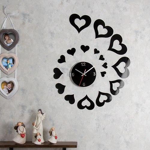 خرید ساعت دیواری طرح قلب باران