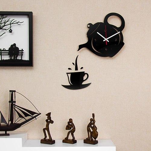 خرید ساعت دیواری طرح قوری و فنجان