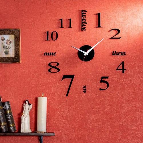 خرید ساعت دیواری روکش مخمل طرح نامبر