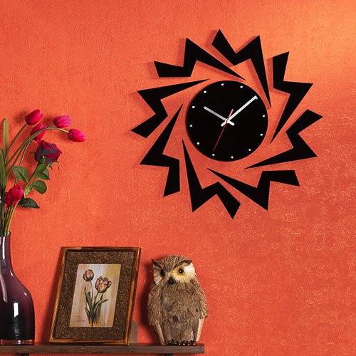 خرید ساعت دیواری روکش مخمل طرح میترا