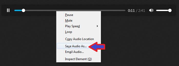 راهنمای دانلود فایل صوتی