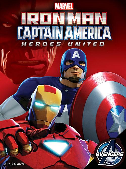 دانلود انیمیشن مرد آهنی و کاپیتان آمریکا: اتحاد قهرمانان ۲۰۱۴
