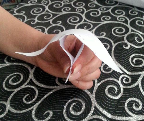 آموزش دوخت روسری پروانه ای