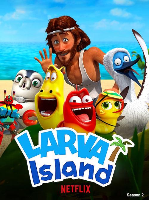 دانلود فصل دوم کارتون جزیره لاروا کامل Larva Island 2019
