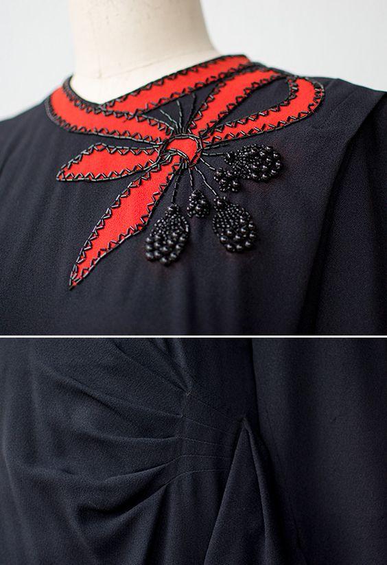 مدل تزیین یقه لباس مجلسی