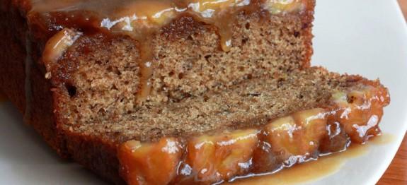 طرز تهیه کیک موز با سس کارامل