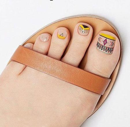 دیزاین ناخن پا,طراحی ناخن,ناخن پا