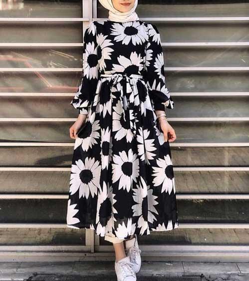 مدل مانتو گلدار تابستانه جدید