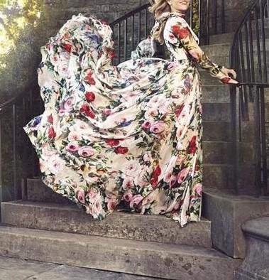 مدل پیراهن بلند دخترانه اینستاگرام
