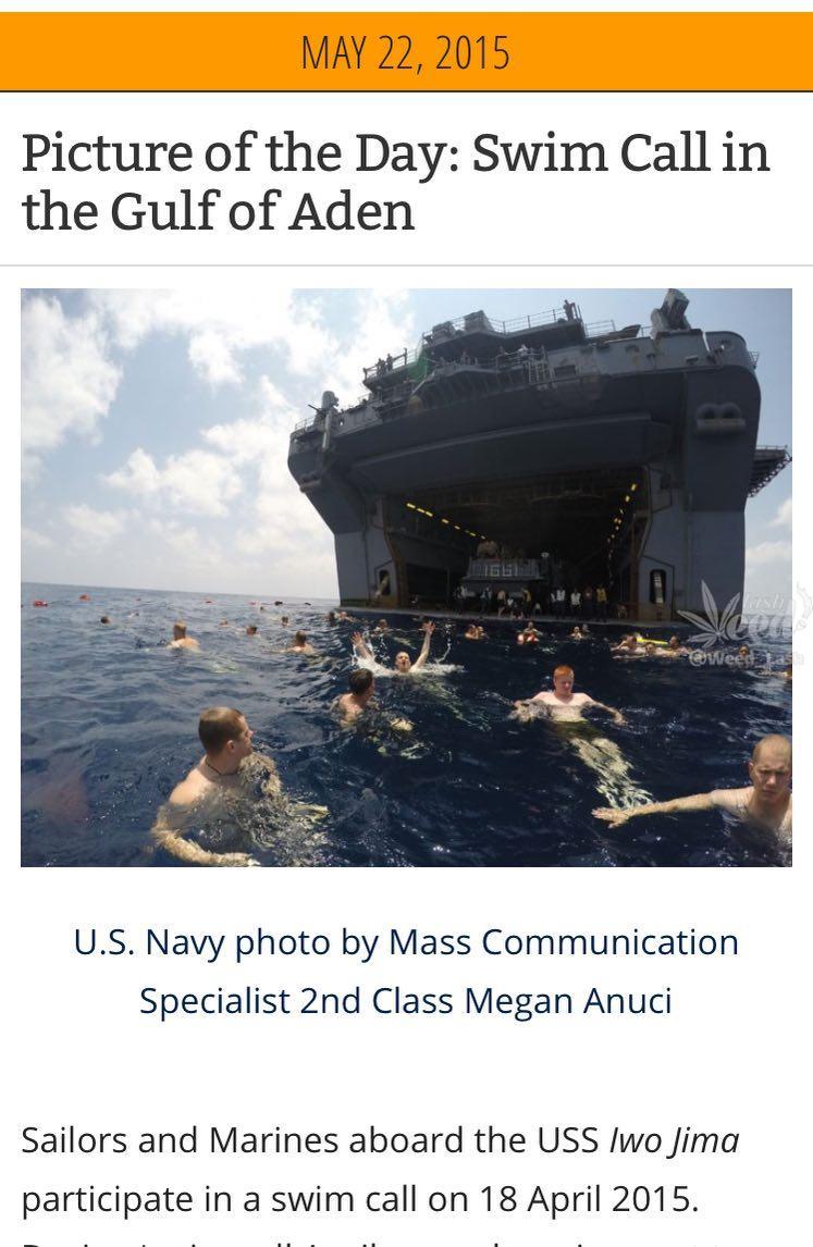 ماجرای شنا کردن سربازان امریکایی در خلیج فارس چیست؟
