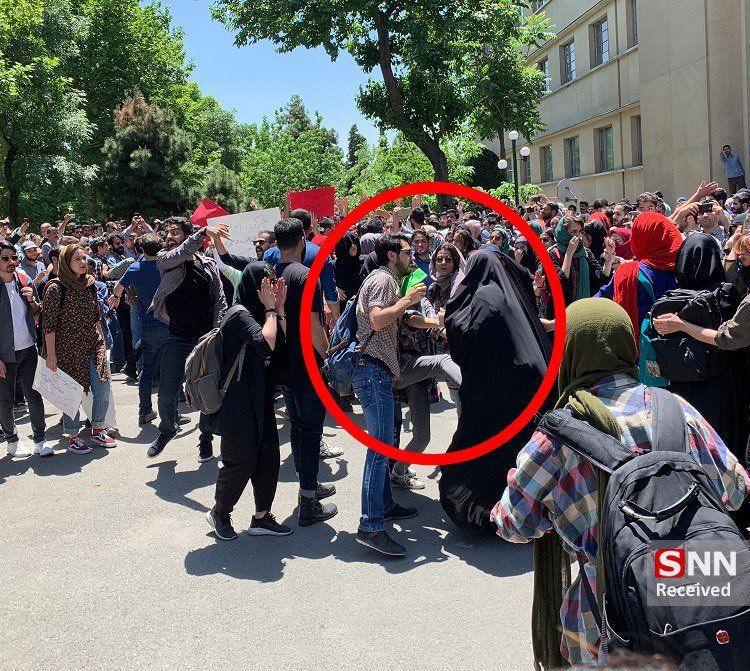توییت راعفی پور در مورد اتفاقات دانشگاه تهران