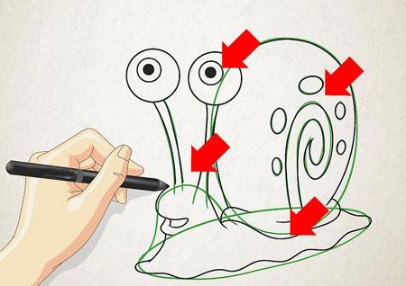 نقاشی,کشیدن حلزون,نقاشی حلزون