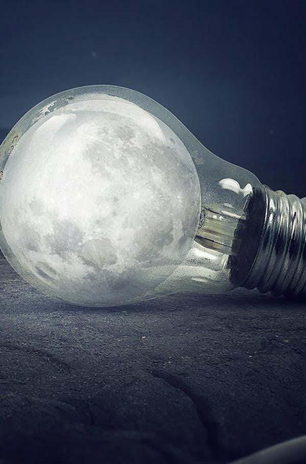 آموزش طراحی ماه در لامپ