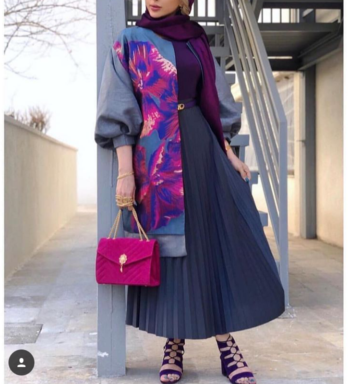 مدل مانتو دامن شیک 2019
