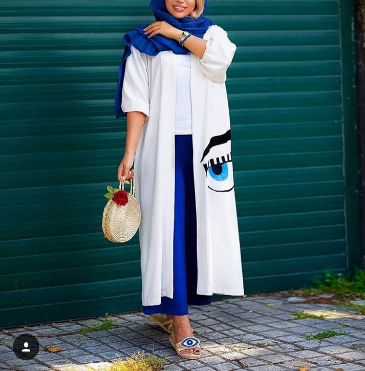 مدل مانتو نخی تابستانی اینستاگرام