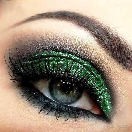 آرایش چشم به رنگ سبز