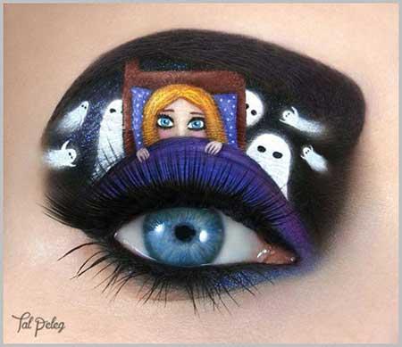 آرایش چشم خلاقانه و هنری