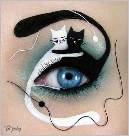 مدل آرایش چشم خلاقانه
