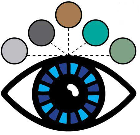 رنگ سایه,چشم های مشکی,چشم های آبی