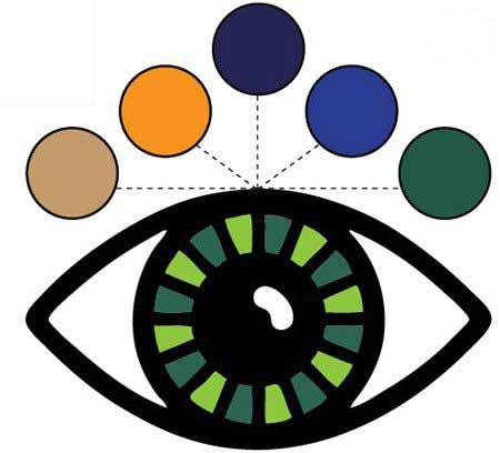 رنگ آرایش,جذابیت آرایش,چشم رنگ سبز