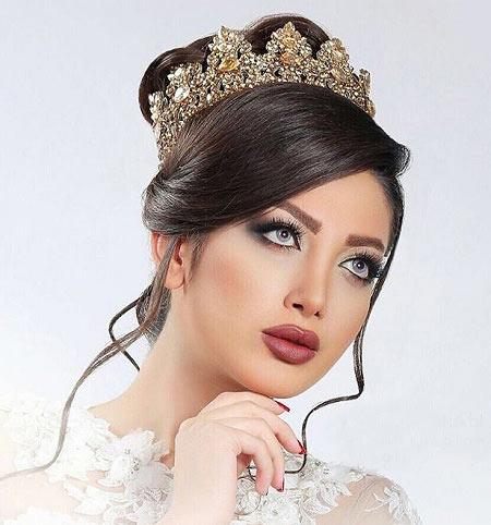 مدل آرایش عروس,جدیدترین مدل آرایش عروس,تصاویر مدل آرایش عروس