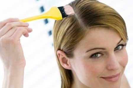 قبل از رنگ كردن موها