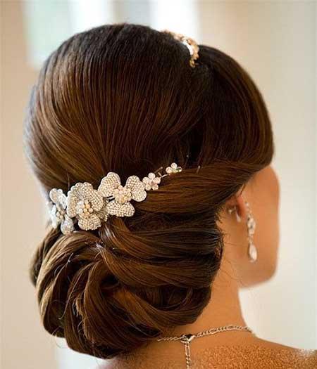 مدل شینیون موی عروس