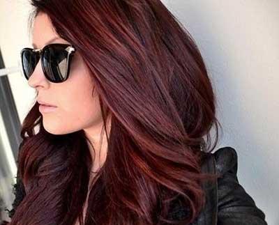 رنگ مو ,رنگ مو شرابی خاکی ,رنگ موی عنابی