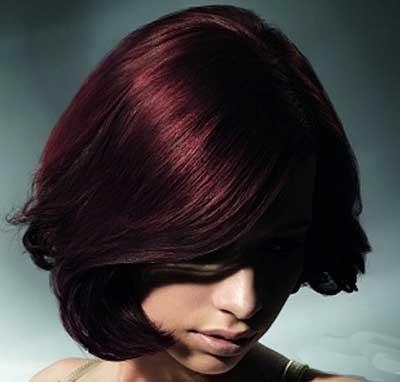 رنگ مو,رنگ مو شرابی خاکی ,رنگ موی عنابی